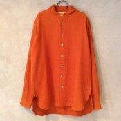suzuki takayuki one-piece shawl collar shirt (スズキタカユキ ワンピースショールカラーシャツ) Orange/Men's