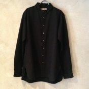 suzuki takayuki one-piece shawl collar shirt (スズキタカユキ ワンピースショールカラーシャツ) Black/Men's
