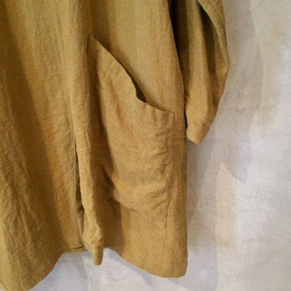 【30%OFF】ikkuna/suzuki takayuki potter's coat (イクナ/スズキタカユキ ポッターズコート) Mustard