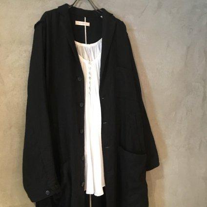 ikkuna/suzuki takayuki potter's coat (イクナ/スズキタカユキ ポッターズコート) Black