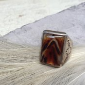 Cast Silver×Picture Agate Ring (シルバー×アゲート リング)