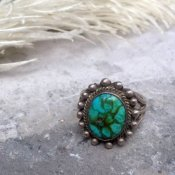 Vintage Silver×Turquoise Ring (シルバー/ターコイズリング)