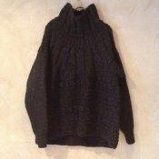 suzuki takayuki hand-knitting pullover (スズキタカユキ ハンドニッティングプルオーバー ) Black/Unisex