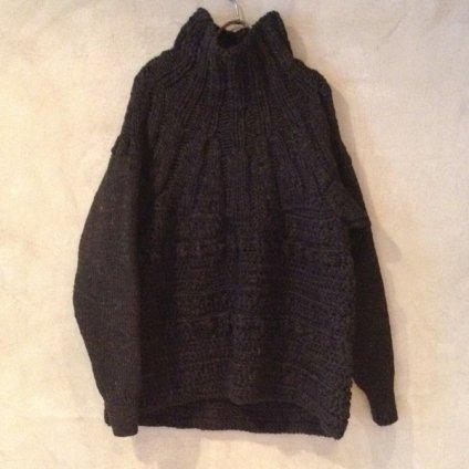 【30%OFF】suzuki takayuki hand-knitting pullover (スズキタカユキ ハンドニッティングプルオーバー ) Orange/Unisex