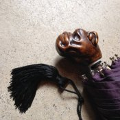 Guy de Jean (ギドゥジャン) 折りたたみ傘 ブルドッグ Prune