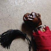 Guy de Jean (ギドゥジャン) 折りたたみ傘 ブルドッグ Red