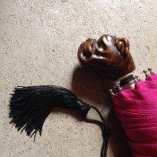 Guy de Jean (ギドゥジャン) 折りたたみ傘 ブルドッグ Fuchsia Pink