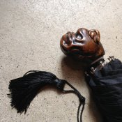 Guy de Jean (ギドゥジャン) 折りたたみ傘 ブルドッグ Black