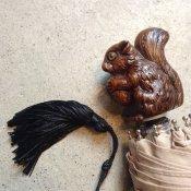 Guy de Jean (ギドゥジャン) 折りたたみ傘 リス Beige
