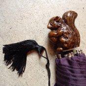 Guy de Jean (ギドゥジャン) 折りたたみ傘 リス Prune