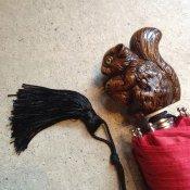 Guy de Jean (ギドゥジャン) 折りたたみ傘 リス Red