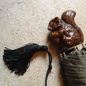 Guy de Jean (ギドゥジャン) 折りたたみ傘 リス Khaki
