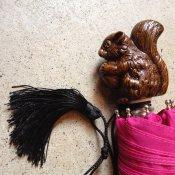 Guy de Jean (ギドゥジャン) 折りたたみ傘 リス Fuchsia Pink