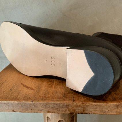 BEAUTIFUL SHOES Buttoned Sidegore Boots(ビューティフルシューズ ボタンドサイドゴアブーツ)Dark Brown