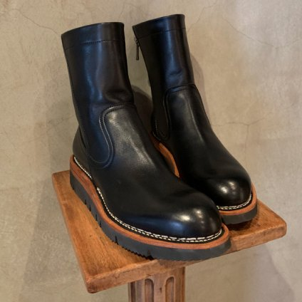 <img class='new_mark_img1' src='https://img.shop-pro.jp/img/new/icons20.gif' style='border:none;display:inline;margin:0px;padding:0px;width:auto;' />【20%OFF】SONOMITSU Leather Boots(ソノミツ レザーブーツ) Black