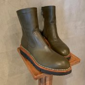 SONOMITSU(ソノミツ)Leather Boots Olieve Green