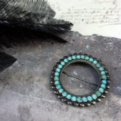 Vintage Silver×Turquoise Brooch by Frank Dishta(フランク ディシュタ ヴィンテージ シルバー×ターコイズ ブローチ)