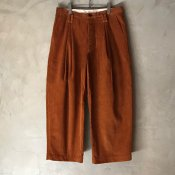 【30%OFF】suzuki takayuki wide legged pants V (スズキタカユキ ワイドレッグパンツ V) Orange