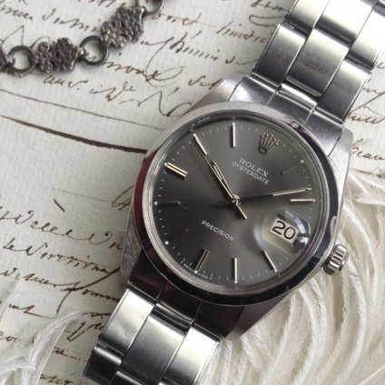 ROLEX OYSTER DATE PRECISION(ロレックス オイスターデイト プレシジョン)グレー文字盤