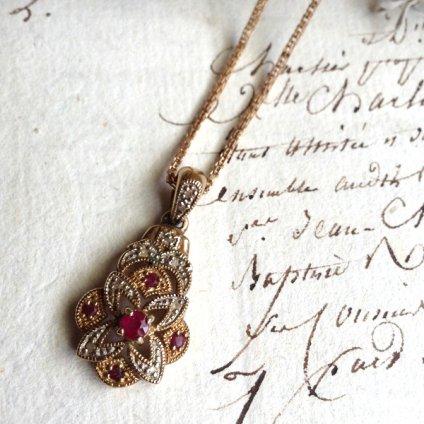 1940's Ruby×Diamond Necklace(1940年代 ルビー×ダイヤモンド ネックレス)