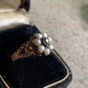 Georgian Pearl Diamond Antique Ring (ジョージアン パール ダイヤモンド アンティークリング)