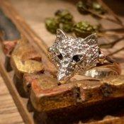 Victorian Fox Diamond Antique Ring (ヴィクトリアン フォックス ダイヤモンド アンティークリング)