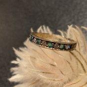 Victorian Emerald Diamond Antique Ring (ヴィクトリアン  エメラルド ダイヤモンド アンティークリング)