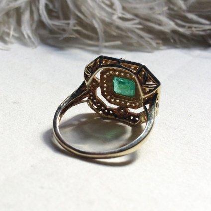 Art deco Emerald Diamond Antique Ring (アールデコ エメラルド ダイヤモンド アンティークリング)