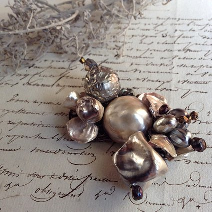 1930's Louis Rousselet Baroque Pearl Brooch( ルイ  ロスレー バロックパールブローチ)
