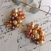 1940's Louis Rousselet Glass Pearl Earrings(1940年代 ルイ  ロスレー ガラスパールイヤリング)