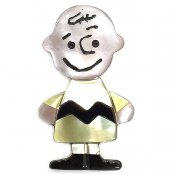 Paula Leekity Brooch Pendant top Charlie Brown (ポーラ リーキティ ブローチ・ペンダントトップ  チャーリー・ブラウン全身)