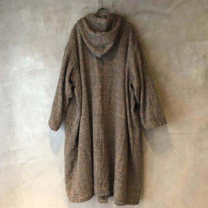 VINCENT JALBERT Hood Coat Harris Tweed (ヴィンセント ジャルベール フードコート ハリスツイード) Beige