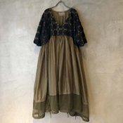 VINCENT JALBERT Parachute Lace Dress L/S  (ヴィンセント ジャルベール パラシュート レースドレス ) Khaki