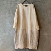 VINCENT JALBERT Large Patch Dress  (ヴィンセント ジャルベール パッチドレス ) Natural