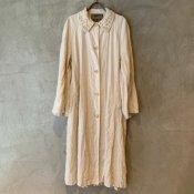 VINCENT JALBERT Coat Lace Collar -Vintage Linen-  (ヴィンセント ジャルベール レースカラーコート ) Natural