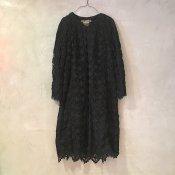 VINCENT JALBERT Lace Coat  (ヴィンセント ジャルベール レースコート ) Black