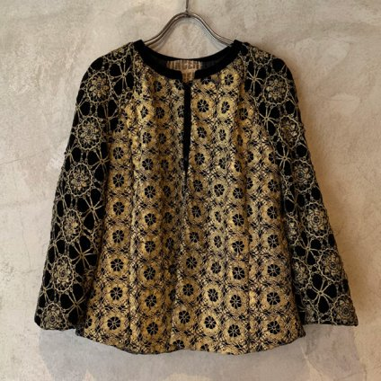 VINCENT JALBERT Lace Jacket  (ヴィンセント ジャルベール レースジャケット ) Gold