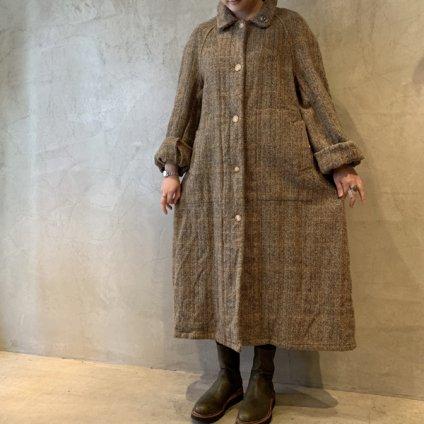 VINCENT JALBERT Coat Harris Tweed Washed (ヴィンセント ジャルベール ハリスツイード コート ) Beige