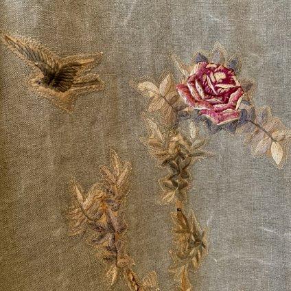 VINCENT JALBERT Long Coat - Embroideris - (ヴィンセント ジャルベール 刺繍ロングコート ) Khaki
