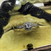 1920's 9K Diamond Antique Ring (1920年代 9K ダイヤモンド アンティークリング)