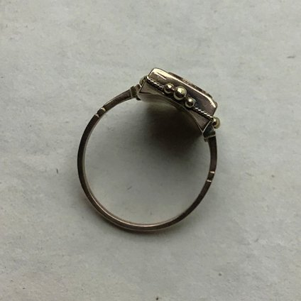 1920's 9K Onyx Antique Initial Ring