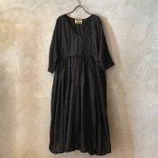 VINCENT JALBERT Parachute Dress L/S w/Belt  (ヴィンセント ジャルベール パラシュートドレス ) Black