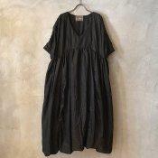 VINCENT JALBERT Parachute Dress L/S  (ヴィンセント ジャルベール パラシュートドレス ) Black