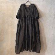 VINCENT JALBERT Parachute Dress L/S  (ヴィンセント ジャルベール パラシュート ドレス ) Brown