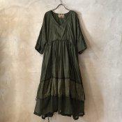VINCENT JALBERT Parachute  Dress L/S w/Belt (ヴィンセント ジャルベール パラシュート ドレス ) Green