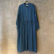 ikkuna/suzuki takayuki gathered dress (イクナ/スズキタカユキ ギャザードドレス)  Turquoise Blue