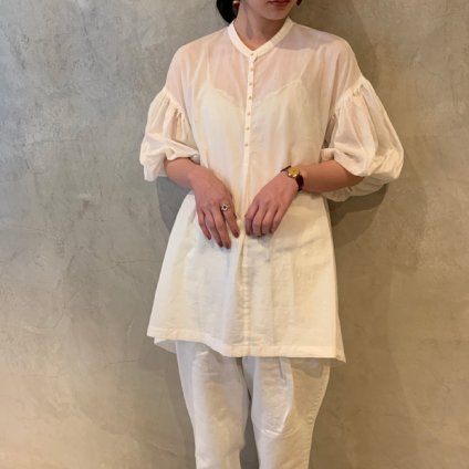 ikkuna/suzuki takayuki puff-sleeve blouse (イクナ/スズキタカユキ パフスリーブブラウス ) White