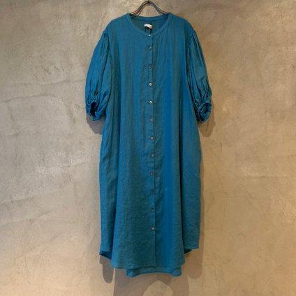 ikkuna/suzuki takayuki puff-sleeve one-piece (イクナ/スズキタカユキ パフスリーブ ワンピース)   Turquoise Blue
