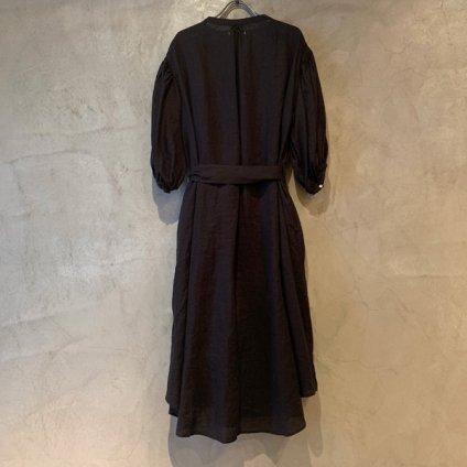 ikkuna/suzuki takayuki puff-sleeve one-piece (イクナ/スズキタカユキ パフスリーブ ワンピース)   Chacoal gray