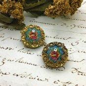1900~10's Roman Mosaic Earrings(1900~10年代 ローマン モザイク イヤリング)